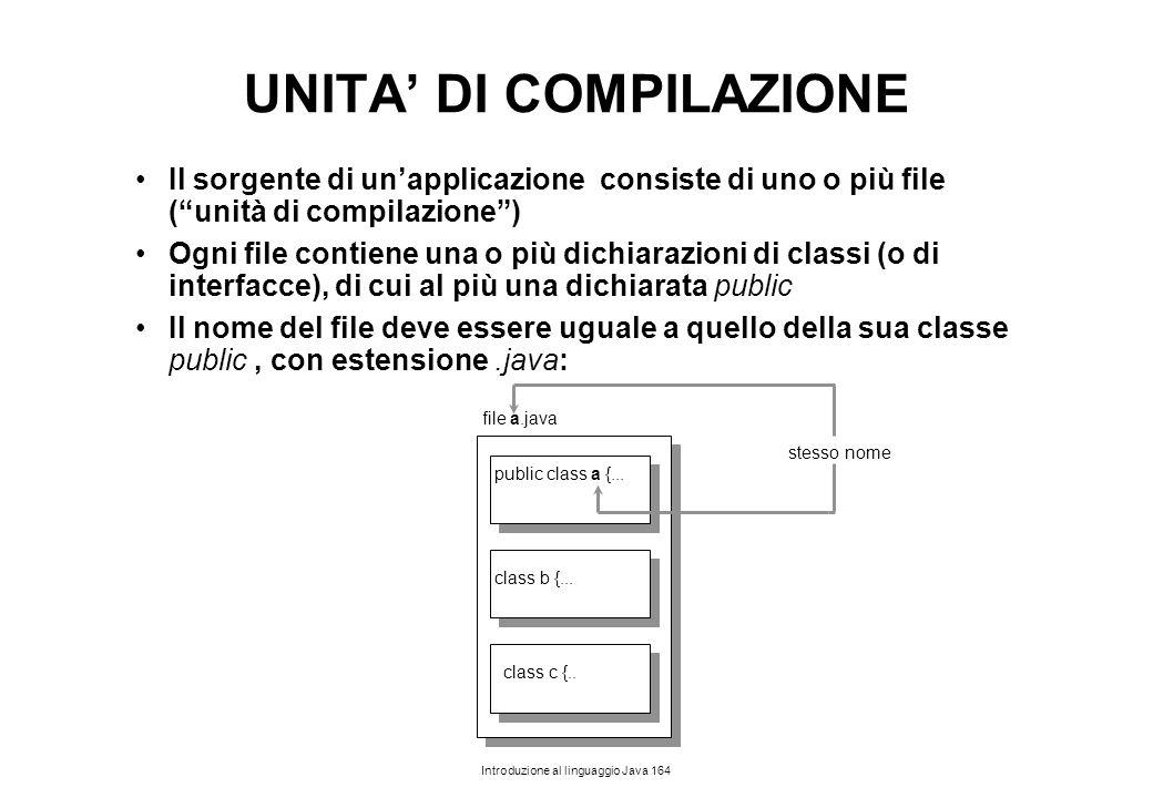 UNITA' DI COMPILAZIONE