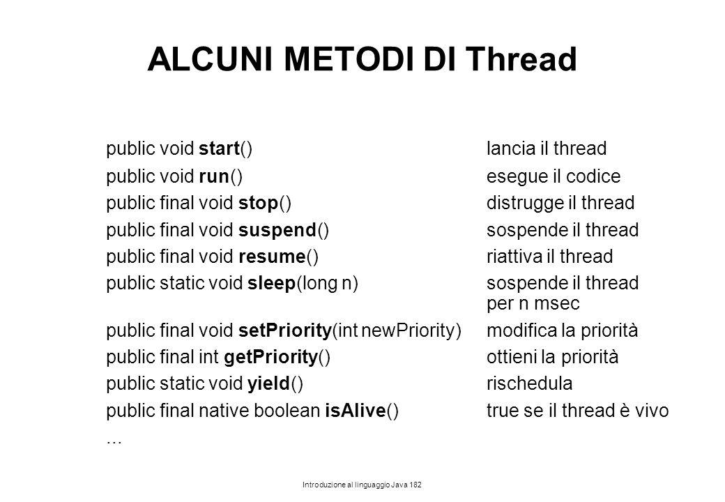 ALCUNI METODI DI Thread