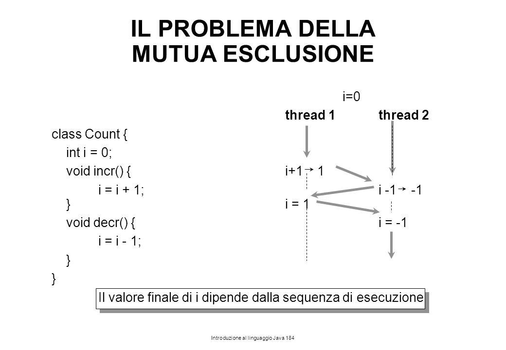 IL PROBLEMA DELLA MUTUA ESCLUSIONE