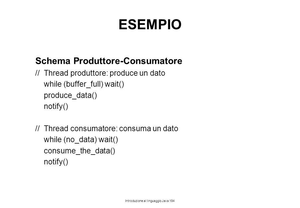 ESEMPIO Schema Produttore-Consumatore