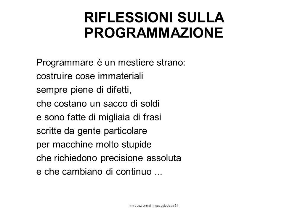 RIFLESSIONI SULLA PROGRAMMAZIONE