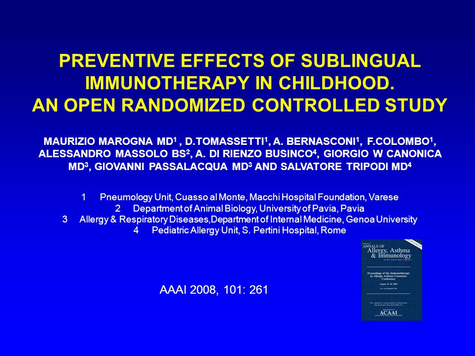 PREVENTIVE EFFECTS OF SUBLINGUAL IMMUNOTHERAPY IN CHILDHOOD.