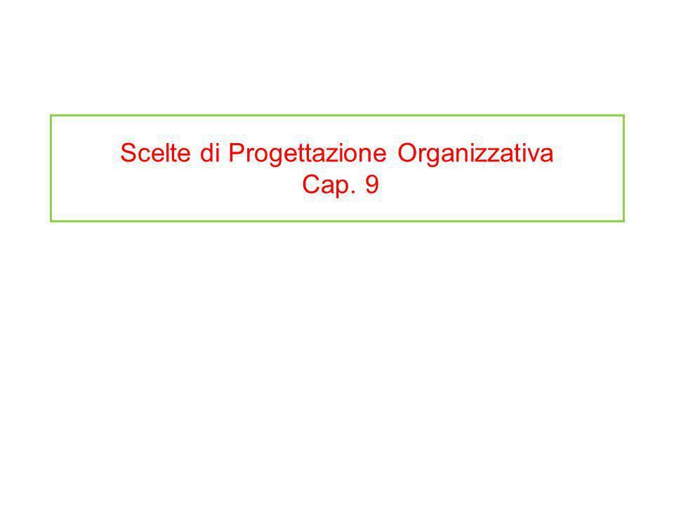 Scelte di Progettazione Organizzativa Cap. 9