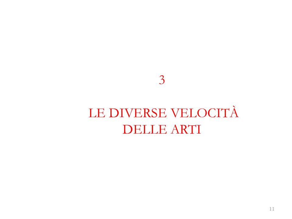 3 LE DIVERSE VELOCITÀ DELLE ARTI