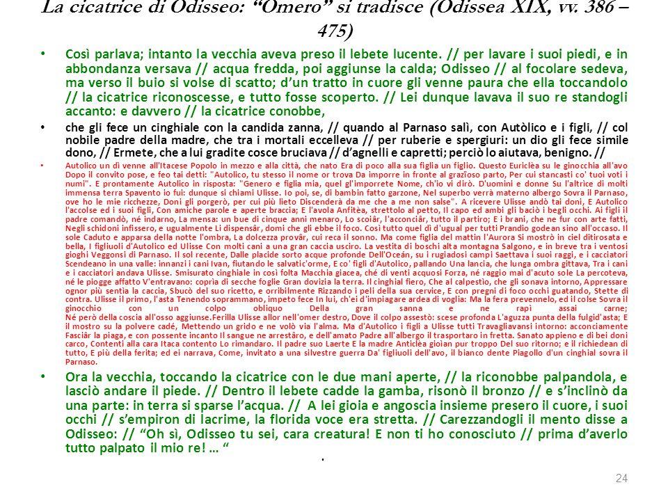 La cicatrice di Odisseo: Omero si tradisce (Odissea XIX, vv