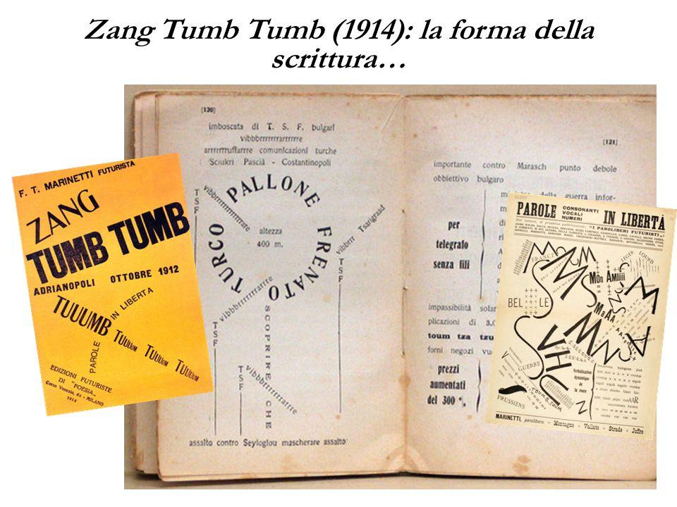 Zang Tumb Tumb (1914): la forma della scrittura…