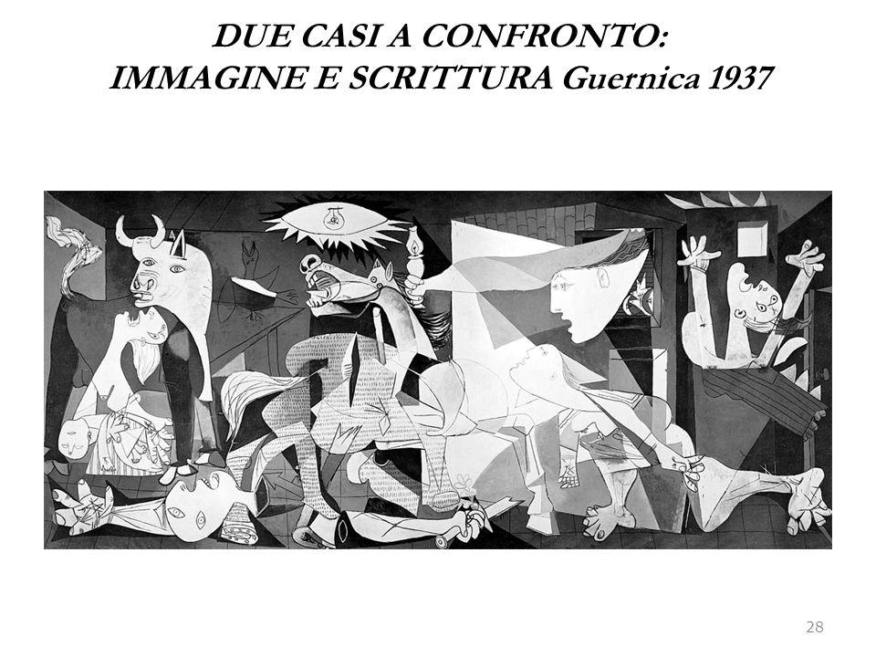 DUE CASI A CONFRONTO: IMMAGINE E SCRITTURA Guernica 1937
