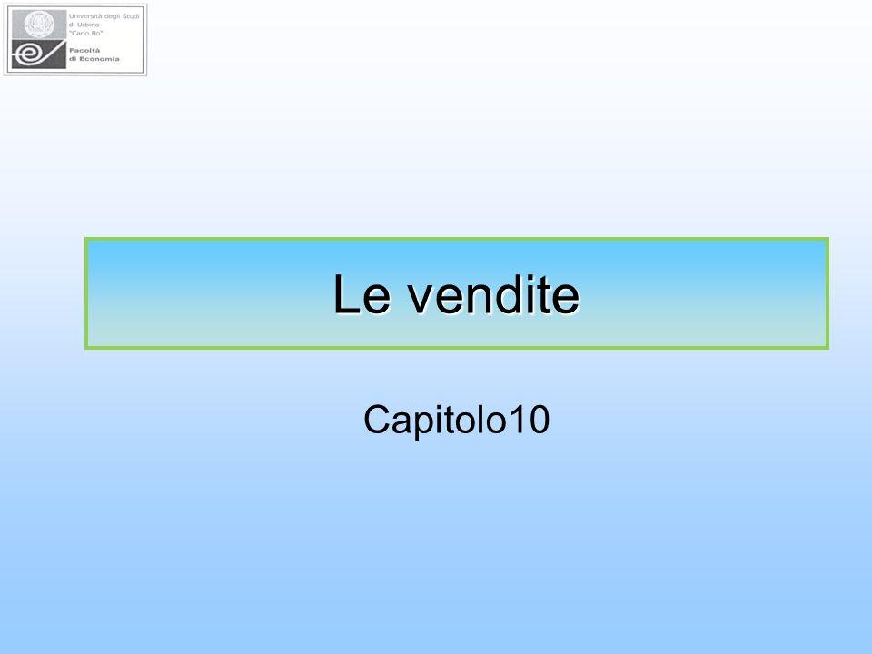 Le vendite Capitolo10