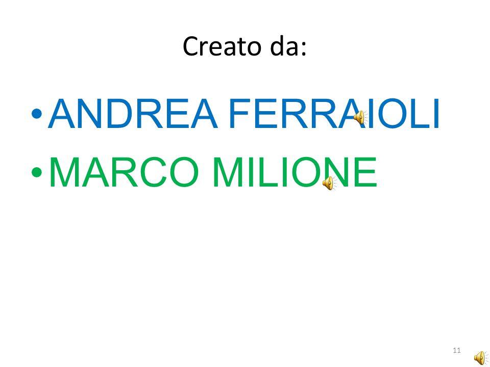 Creato da: ANDREA FERRAIOLI MARCO MILIONE