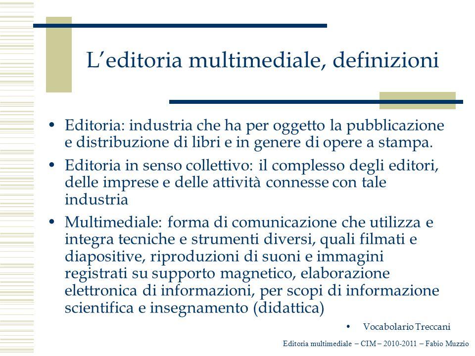 L'editoria multimediale, definizioni