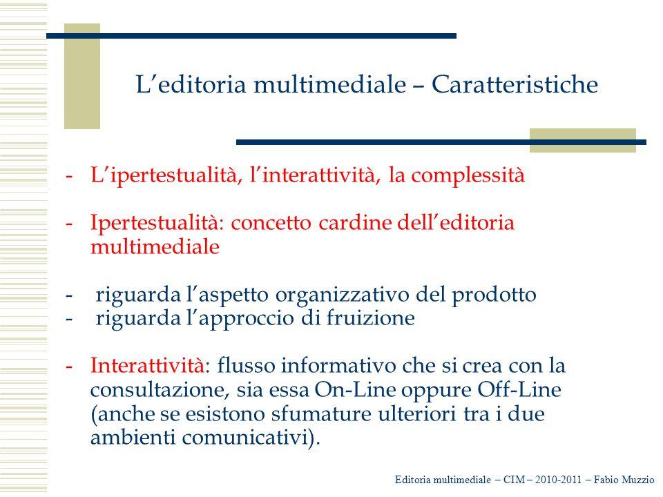 L'editoria multimediale – Caratteristiche
