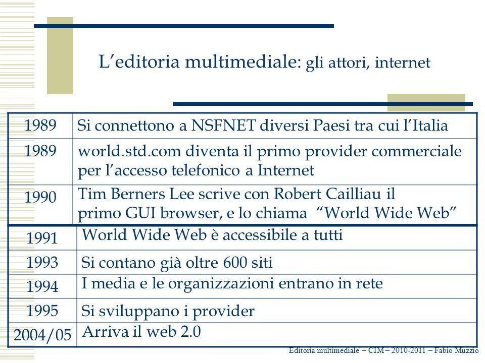 L'editoria multimediale: gli attori, internet