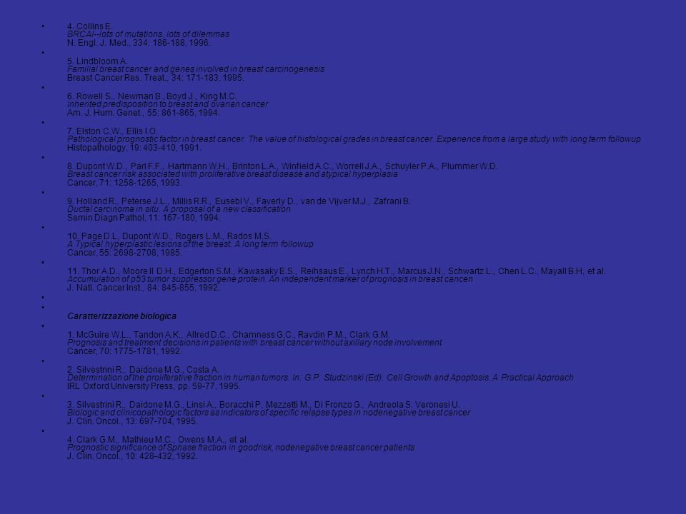 4. Collins E. BRCAI--lots of mutations, lots of dilemmas N. Engl. J