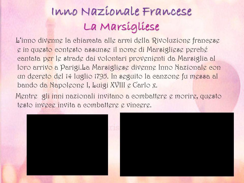 Inno Nazionale Francese La Marsigliese