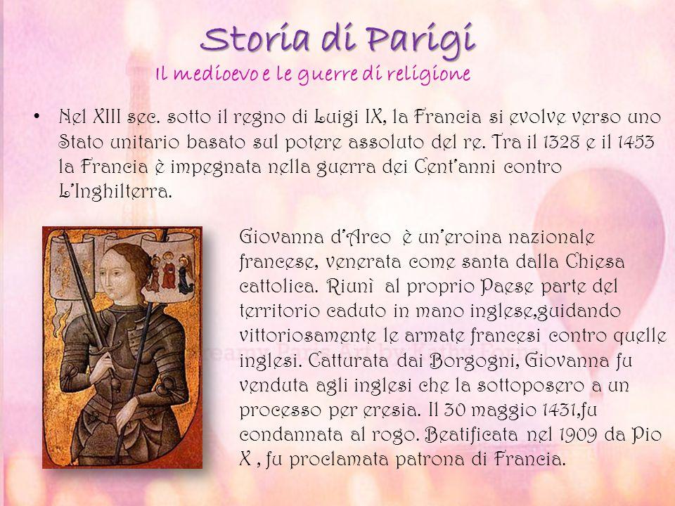 Storia di Parigi Il medioevo e le guerre di religione