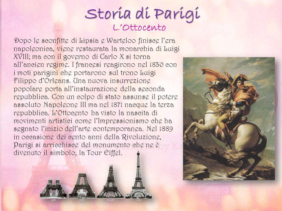 Storia di Parigi L'Ottocento
