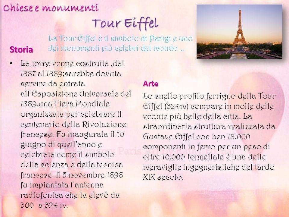 Tour Eiffel Chiese e monumenti Storia