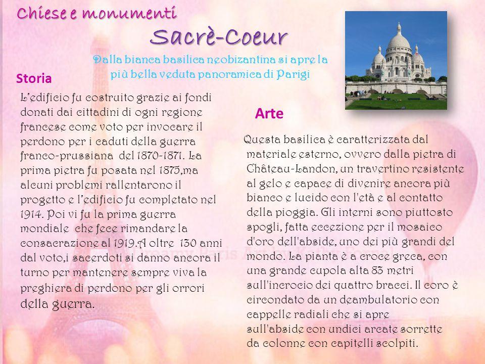 Sacrè-Coeur Chiese e monumenti Arte Storia