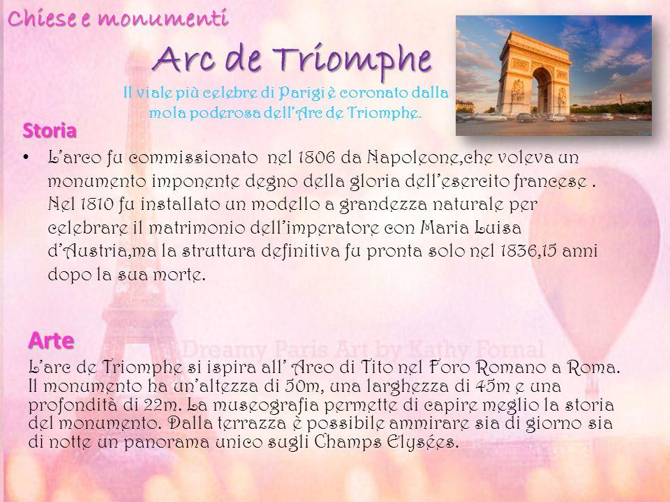 Arc de Triomphe Chiese e monumenti Arte Storia