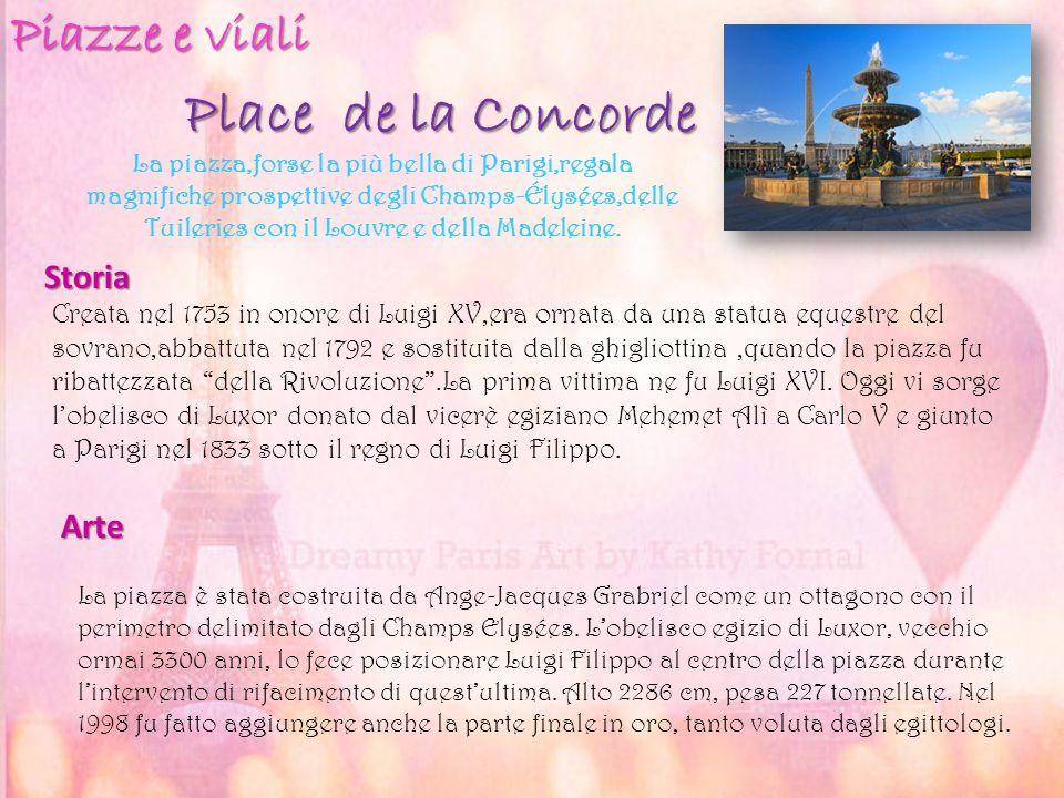 Place de la Concorde Piazze e viali Storia Arte