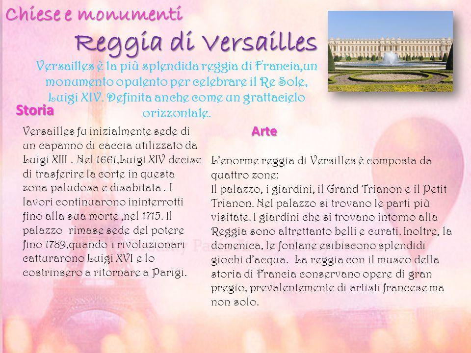 Reggia di Versailles Chiese e monumenti Storia Arte