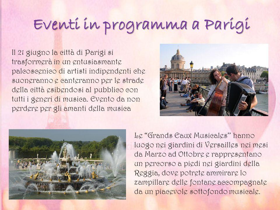 Eventi in programma a Parigi