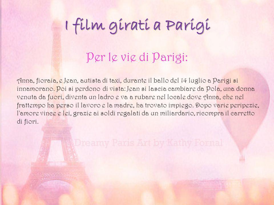 I film girati a Parigi Per le vie di Parigi: