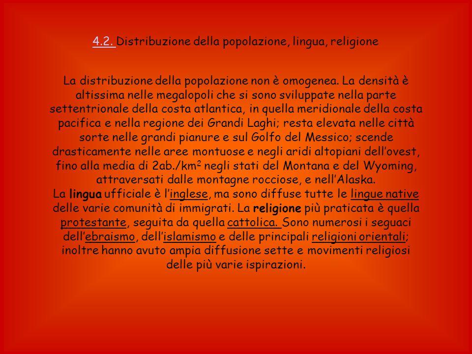 4.2. Distribuzione della popolazione, lingua, religione