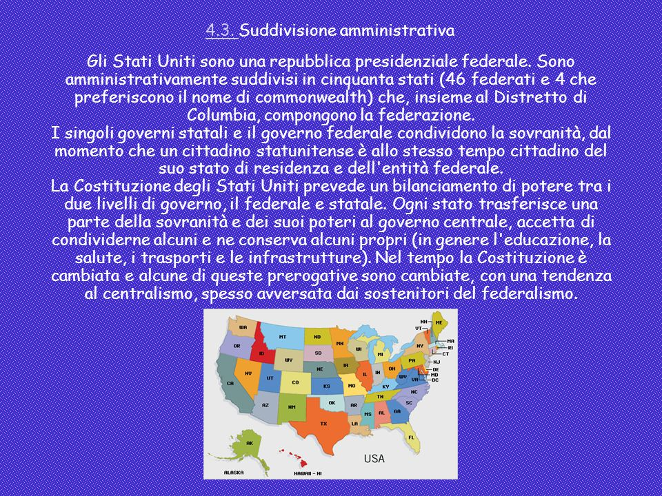 4.3. Suddivisione amministrativa
