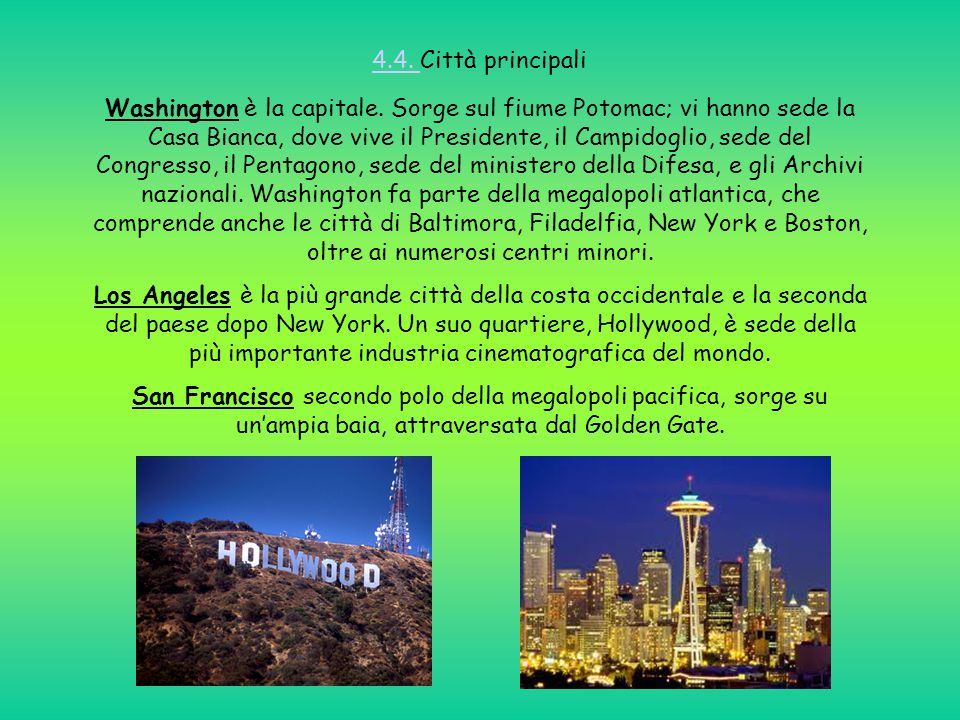 4.4. Città principali