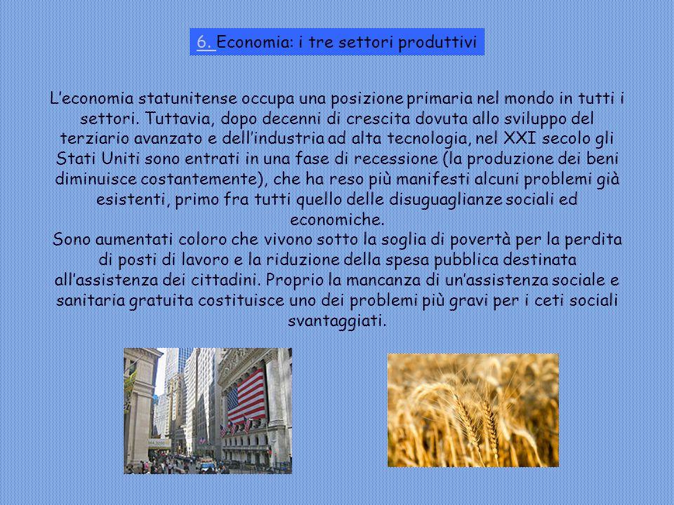 6. Economia: i tre settori produttivi