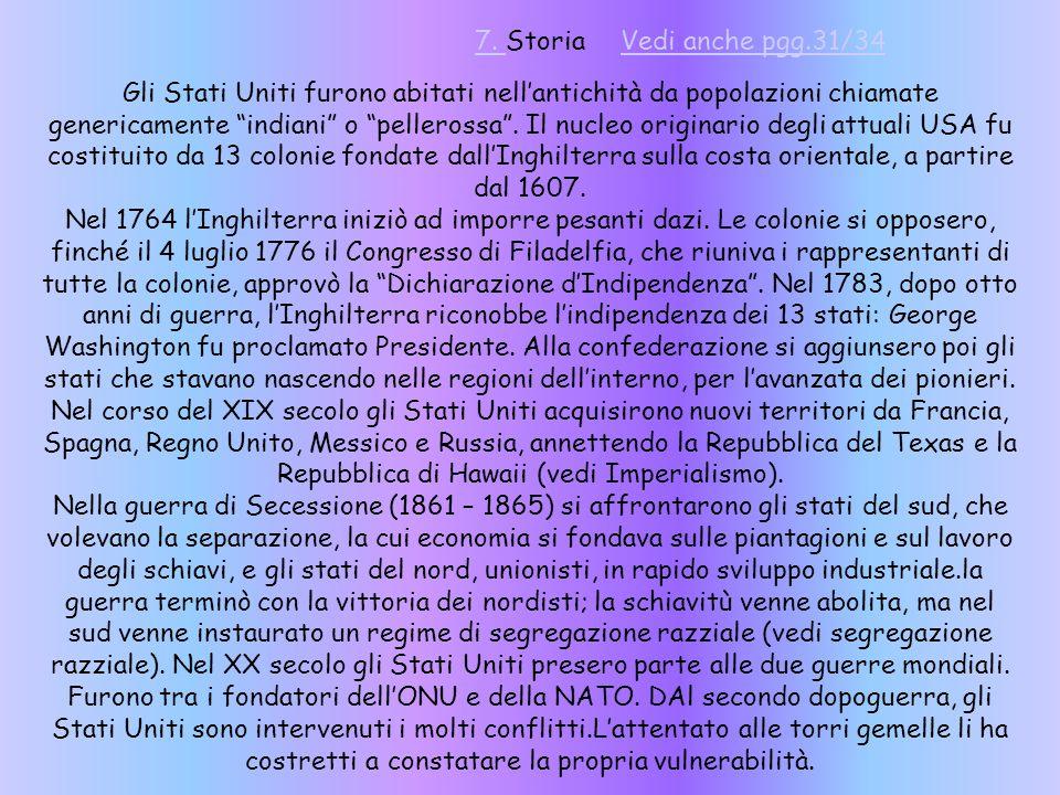 7. Storia Vedi anche pgg.31/34.