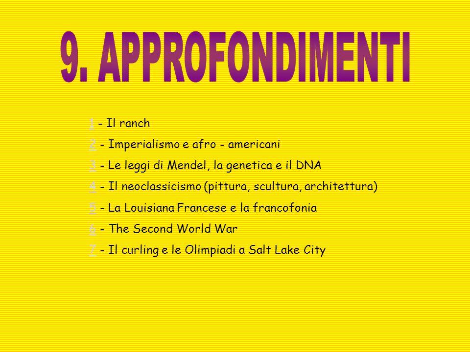 9. APPROFONDIMENTI 1 - Il ranch 2 - Imperialismo e afro - americani