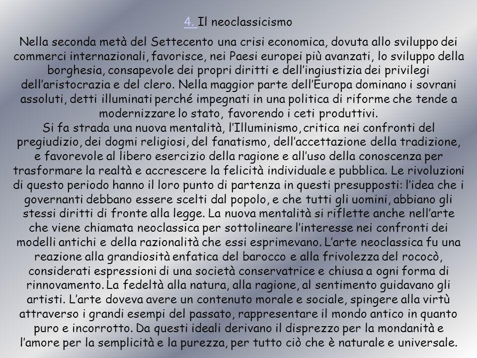 4. Il neoclassicismo