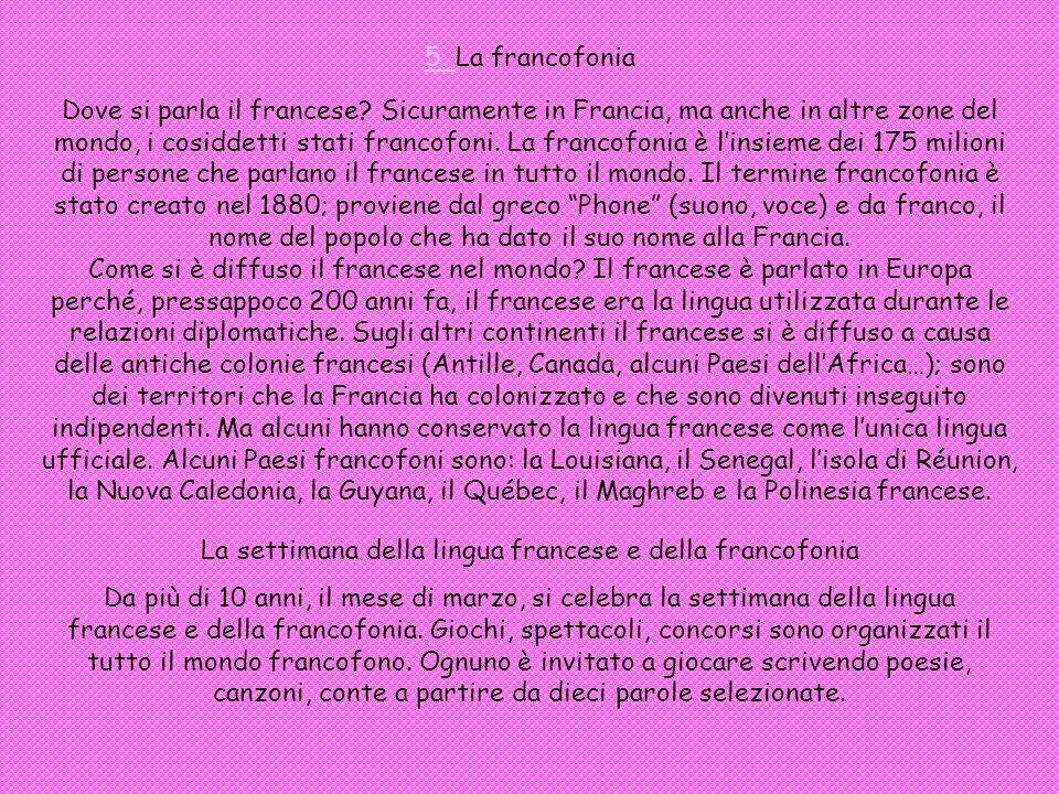 La settimana della lingua francese e della francofonia
