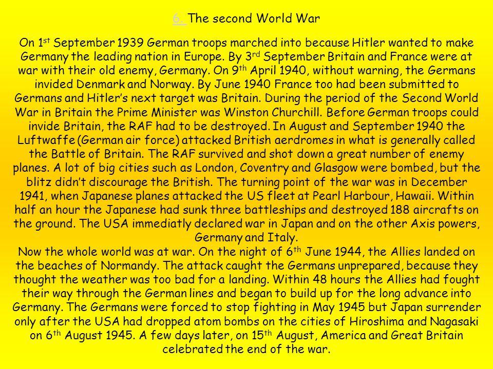 6. The second World War