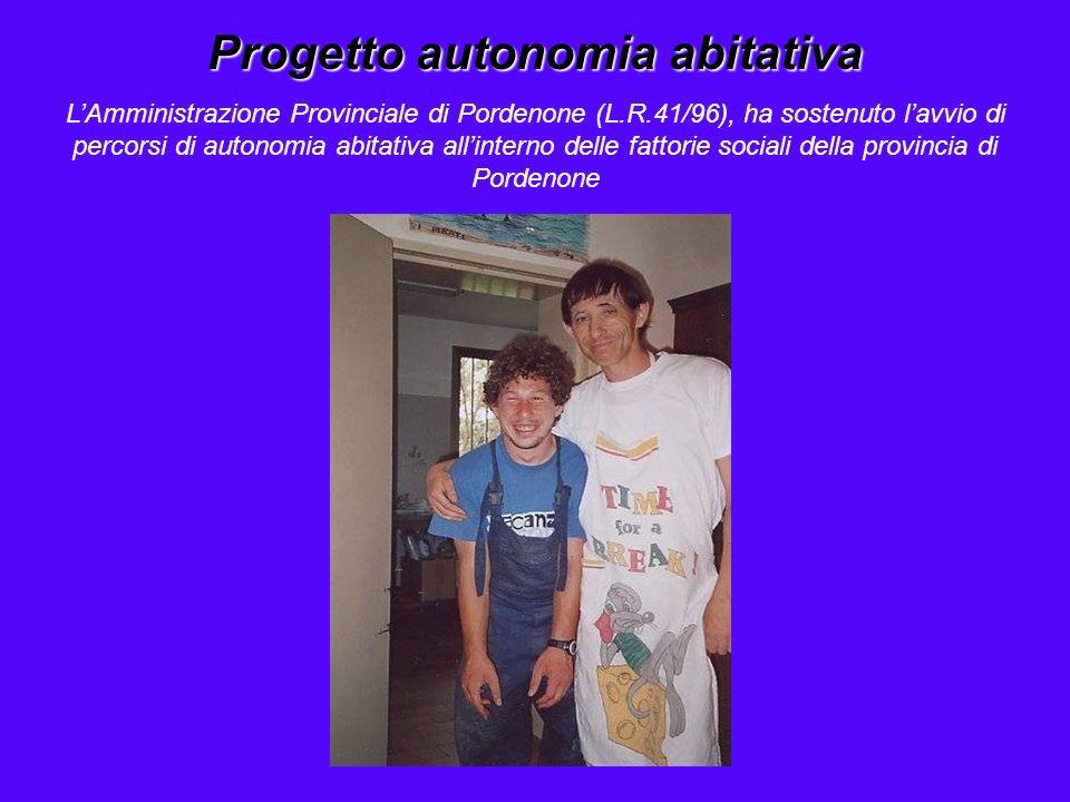 Progetto autonomia abitativa