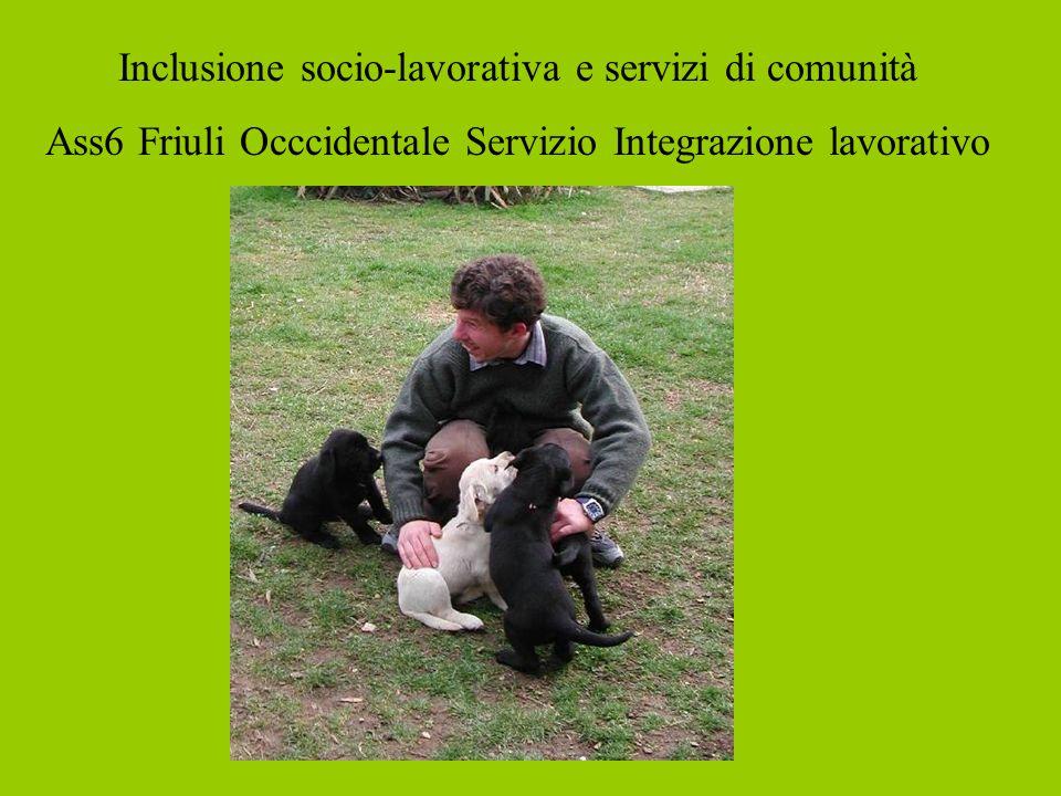 Inclusione socio-lavorativa e servizi di comunità