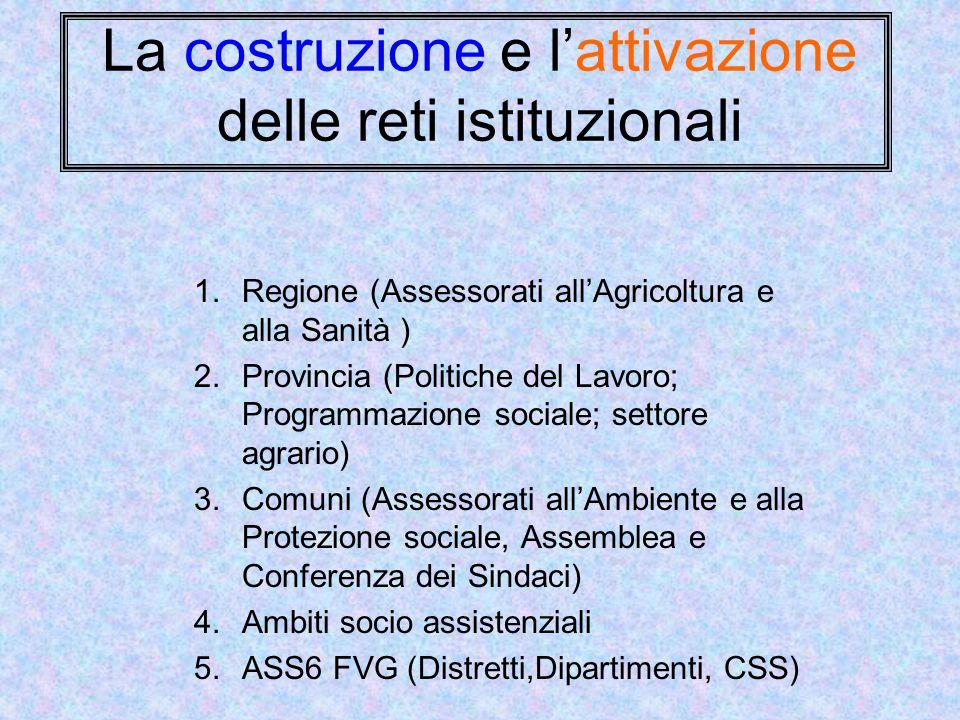 La costruzione e l'attivazione delle reti istituzionali