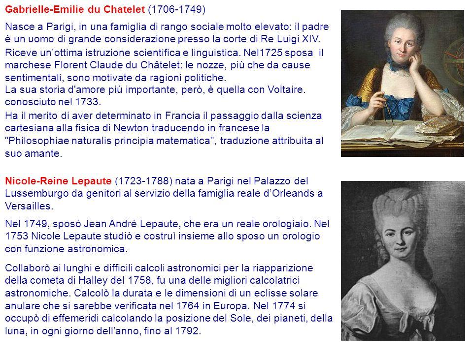 Gabrielle-Emilie du Chatelet (1706-1749)