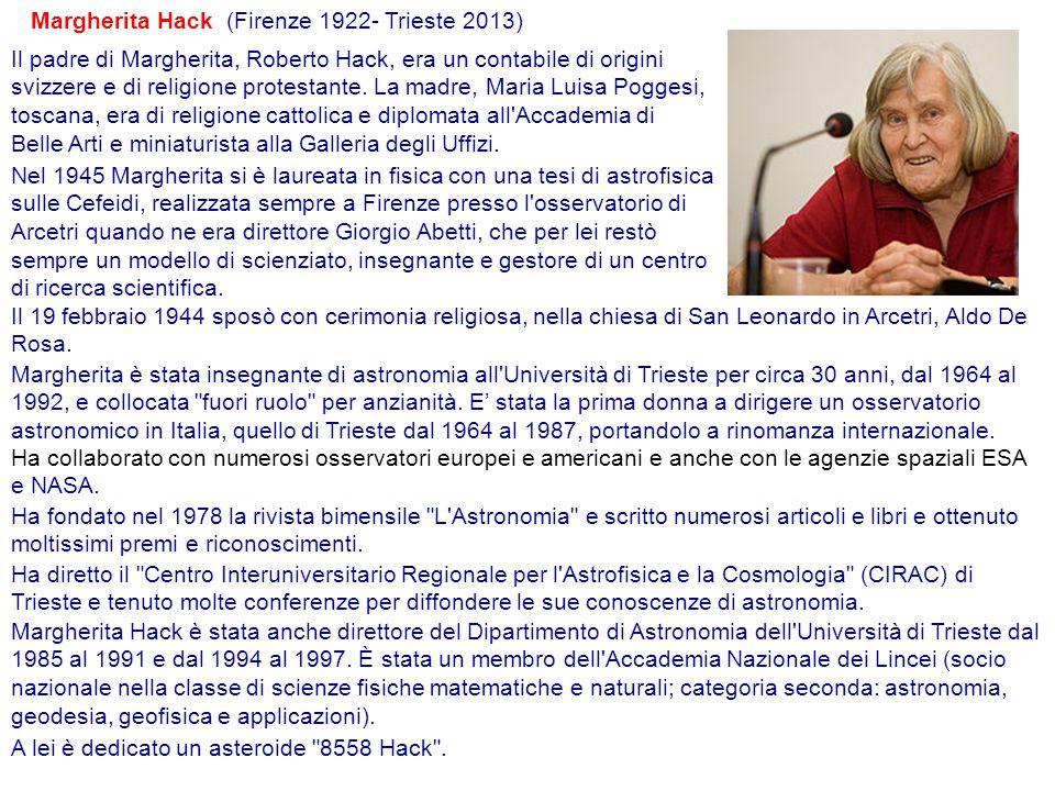 Margherita Hack (Firenze 1922- Trieste 2013)