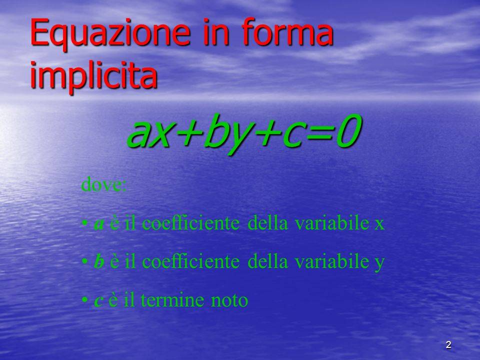 Equazione in forma implicita