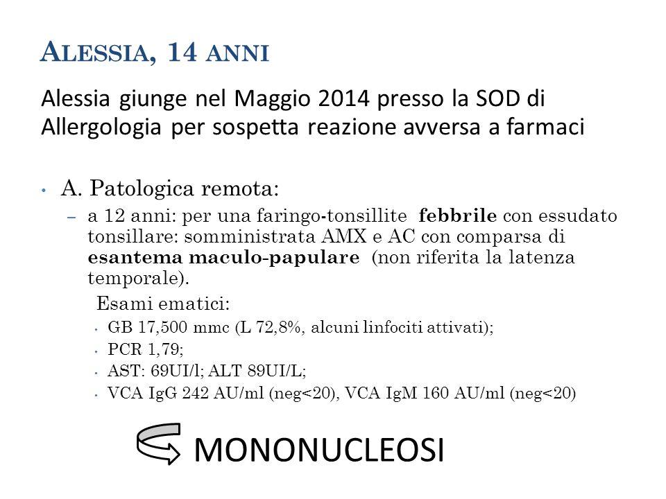 MONONUCLEOSI Alessia, 14 anni