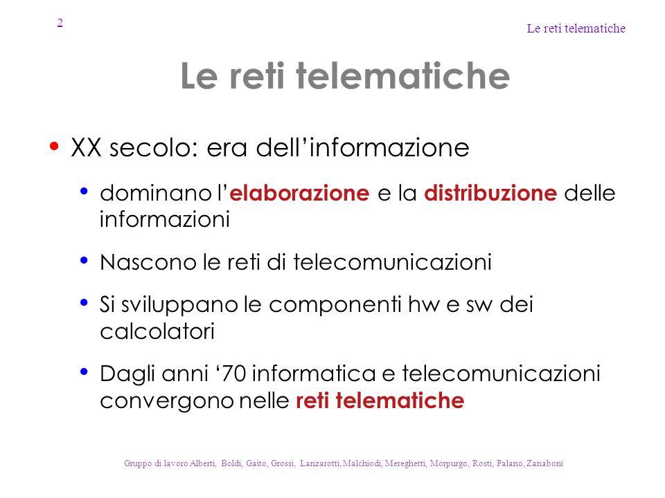 Le reti telematiche XX secolo: era dell'informazione