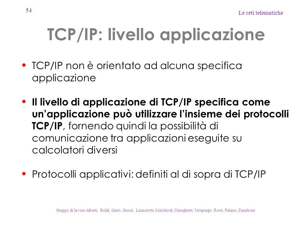 TCP/IP: livello applicazione