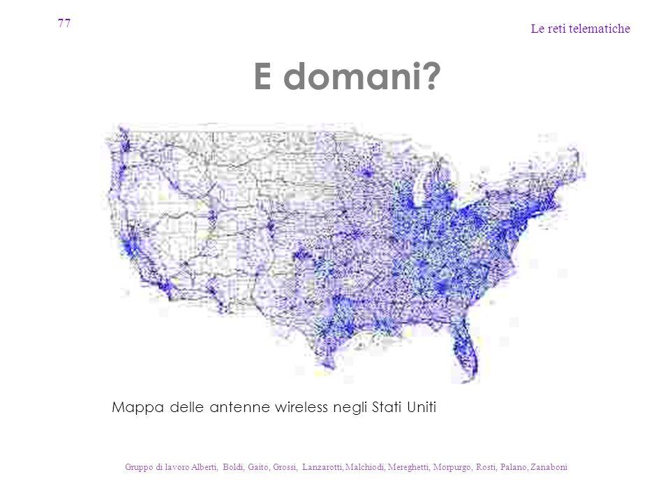 E domani Mappa delle antenne wireless negli Stati Uniti