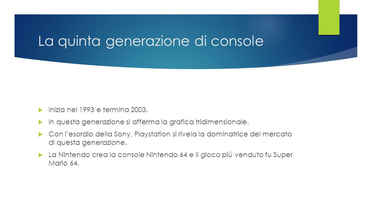 La quinta generazione di console