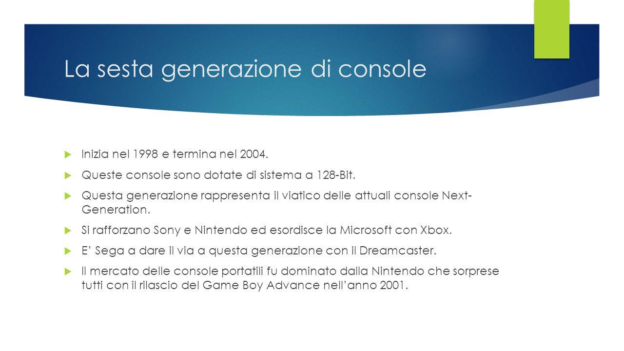 La sesta generazione di console