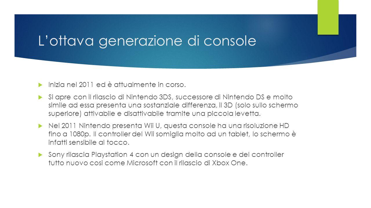 L'ottava generazione di console