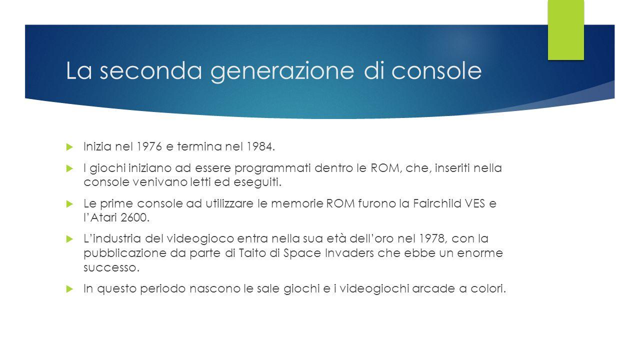 La seconda generazione di console